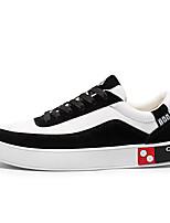 Недорогие -Муж. Комфортная обувь Полиуретан Весна Кеды Черный / Серый / Черно-белый