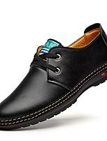 Недорогие -Муж. Комфортная обувь Микроволокно Весна Туфли на шнуровке Черный / Темно-коричневый