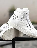 Недорогие -Муж. Комфортная обувь Полиуретан Наступила зима Кеды Белый / Черный