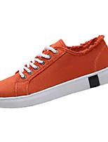 Недорогие -Муж. Комфортная обувь Полотно Весна На каждый день Кеды Нескользкий Черный / Оранжевый / Зеленый