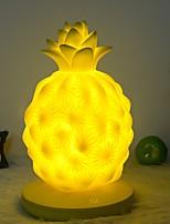 Недорогие -1шт Ананас LED Night Light Желтый USB Творчество <=36 V