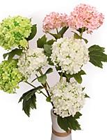 Недорогие -Искусственные Цветы 1 Филиал Классический Стиль Modern Гортензии Букеты на стол