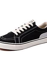 Недорогие -Муж. Комфортная обувь Полотно Лето Кеды Черный / Красный / Черный / синий