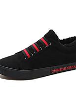 Недорогие -Муж. Комфортная обувь Полотно Зима Кеды Черный / Красный / Хаки