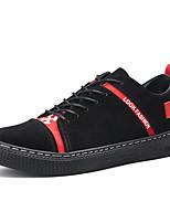 Недорогие -Муж. Комфортная обувь Замша Наступила зима На каждый день Кеды Черный / Желтый / Черный / Красный