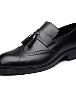 Недорогие -Муж. Комфортная обувь Микроволокно Весна & осень Туфли на шнуровке Черный / Серый / Коричневый