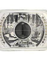 Недорогие -h6014 / h6052 / h6054 хромированный 7x6 светодиодный кольцевой комплект для преобразования фар проектора