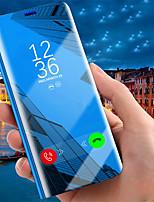 Недорогие -Кейс для Назначение Apple iPhone XR / iPhone XS Max со стендом / Покрытие / Зеркальная поверхность Чехол Однотонный Твердый Кожа PU для iPhone XS / iPhone XR / iPhone XS Max