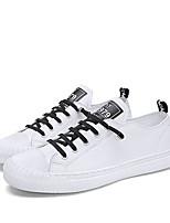 Недорогие -Муж. Комфортная обувь Эластичная ткань Весна & осень Кеды Белый / Черный