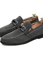 Недорогие -Муж. Комфортная обувь Замша Весна Мокасины и Свитер Черный / Серый
