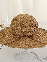 Недорогие -Жен. Праздник Соломенная шляпа - Бант Однотонный