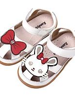 Недорогие -Девочки Обувь Искусственная кожа Лето Удобная обувь Сандалии для Дети (1-4 лет) Белый / Розовый
