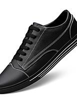 Недорогие -Муж. Комфортная обувь Наппа Leather Весна & осень Кеды Белый / Черный