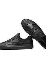 Недорогие -Муж. Комфортная обувь Кожа Осень Мокасины и Свитер Черный