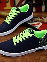 Недорогие -Муж. Комфортная обувь Искусственная кожа Весна Кеды Черный / Красный / Черный / зеленый / Черный / синий