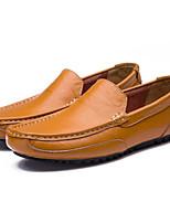 Недорогие -Муж. Комфортная обувь Микроволокно Весна Мокасины и Свитер Черный / Коричневый / Синий