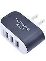 Недорогие -Портативное зарядное устройство Зарядное устройство USB Стандарт США Нормальная 3 USB порта 3.1 A DC 5V для