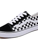 Недорогие -Муж. Комфортная обувь Полотно Весна Кеды Черно-белый