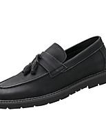 Недорогие -Муж. Комфортная обувь Микроволокно Весна & осень Мокасины и Свитер Черный