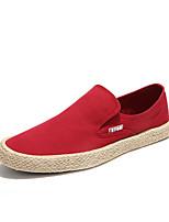 Недорогие -Муж. Комфортная обувь Полотно Весна На каждый день Мокасины и Свитер Нескользкий Красный / Синий / Хаки