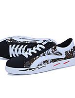 Недорогие -Муж. Комфортная обувь Полиуретан Осень Кеды Черный / Красный / Синий