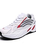 Недорогие -Муж. Комфортная обувь Сетка Весна лето На каждый день Кеды Дышащий Белый / Черный / Серый