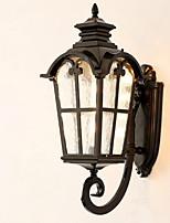 Недорогие -Новый дизайн Ретро Настенные светильники На открытом воздухе / Сад Металл настенный светильник 220-240Вольт 40 W