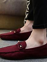 Недорогие -Муж. Комфортная обувь Замша Весна & осень Мокасины и Свитер Черный / Серый / Винный