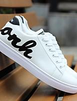 Недорогие -Муж. Комфортная обувь Искусственная кожа Весна Кеды Белый / Черный / Зеленый