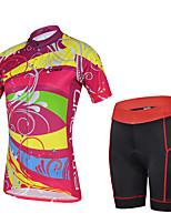 Недорогие -cheji® Жен. С короткими рукавами Велокофты и велошорты - Зеленый Синий Розовый Велоспорт Наборы одежды Виды спорта Лайкра Однотонный Горные велосипеды Шоссейные велосипеды Одежда