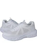 Недорогие -Муж. Комфортная обувь Полиуретан Весна & осень Кеды Белый / Черный / Бежевый