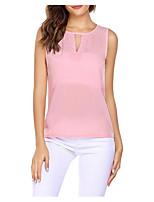 Недорогие -женская праздничная футболка азиатского размера - сплошная цветная шея