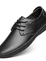 Недорогие -Муж. Комфортная обувь Микроволокно Весна лето Кеды Черный / Темно-коричневый