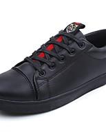 Недорогие -Муж. Комфортная обувь Полиуретан Весна Кеды Красный / Черно-белый / Черный / Красный