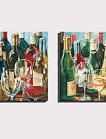Недорогие -С картинкой Роликовые холсты Отпечатки на холсте - Абстракция Отдых Modern