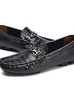 Недорогие -Муж. Комфортная обувь Кожа Весна & осень Мокасины и Свитер Черный / Коричневый / Синий