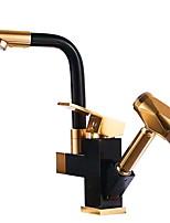 Недорогие -кухонный смеситель - Одной ручкой Два отверстия Высокий / High Arc Современный Kitchen Taps