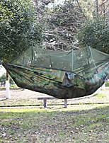 Недорогие -Туристический гамак с москитной сеткой На открытом воздухе Легкость Быстровысыхающий Воздухопроницаемость Нейлон для 2 человека Рыбалка Походы - Камуфляжный