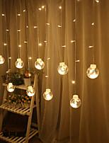 Недорогие -2,5 м 12 светодиодные фонари звезды водонепроницаемые фонари светодиодные струнные светильники желаю мяч спальня занавес огни общие украшения рождественские огни