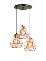 Недорогие -3-Light Фонариком Подвесные лампы Рассеянное освещение Электропокрытие Металл Новый дизайн 110-120Вольт / 220-240Вольт