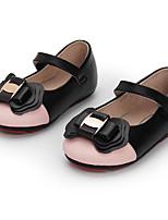 Недорогие -Девочки Обувь Кожа Осень Удобная обувь На плокой подошве для Дети Черный / Розовый