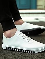 Недорогие -Муж. Комфортная обувь Искусственная кожа Весна & осень Кеды Белый / Черный / Оранжевый