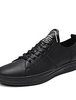 Недорогие -Муж. Комфортная обувь Синтетика Весна & осень На каждый день Кеды Черный / Бежевый
