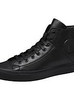 Недорогие -Муж. Комфортная обувь Микроволокно Весна & осень Кеды Белый / Черный / Красный