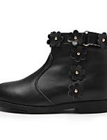 Недорогие -Девочки Обувь Кожа Наступила зима Удобная обувь / Модная обувь Ботинки для Дети Черный