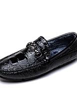 Недорогие -Муж. Комфортная обувь Микроволокно Наступила зима Мокасины и Свитер Черный / Серебряный
