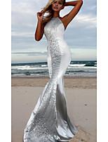 Недорогие -Жен. Для вечеринок Элегантный стиль Оболочка Платье Открытая спина Хальтер Макси / Сексуальные платья