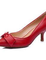 Недорогие -Жен. Наппа Leather Весна / Лето На каждый день / Минимализм Обувь на каблуках На шпильке Заостренный носок Бант Черный / Красный