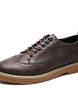 Недорогие -Муж. Комфортная обувь Полиуретан Осень Кеды Серый / Желтый / Коричневый