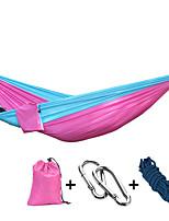 Недорогие -Туристический гамак На открытом воздухе Легкость, Быстровысыхающий, Воздухопроницаемость Полиэфир / полиамид для 2 человека Рыбалка / Походы - Розовый, Темно-синий, Темно-зеленый